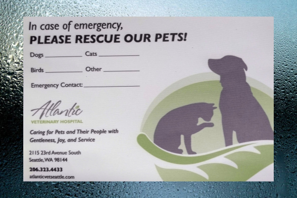 How to Pet-Proof Your Home in Case of Fire | Free Pet Alert Window Cling from Atlantic Veterinary Hospital